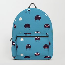Ghosts and spiders - Halloween fabric pattern Backpack