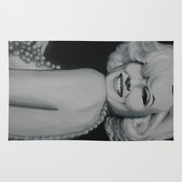 drunk Area & Throw Rugs featuring Marilyn Drunk by Valeria Natale