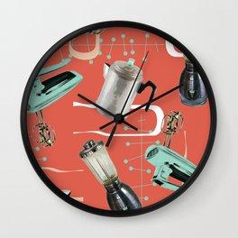 Fifties Kitchen Apricot Wall Clock
