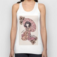 blossom Tank Tops featuring  Blossom by Cat Milchard