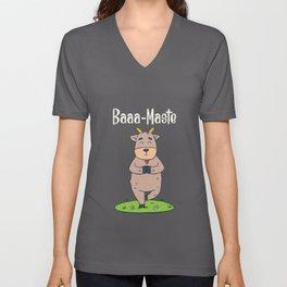 Goat Yoga T Shirt funny namaste gift Unisex V-Neck