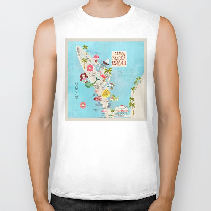 Anna Maria Island Map Biker Tank