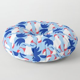 Gallic rooster - France national symbol, flag colors Floor Pillow
