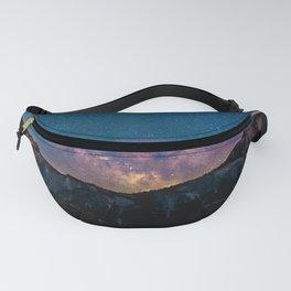 Purple Star Galaxy Fanny Pack