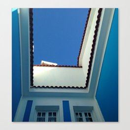 Blue Sky in Greece Canvas Print