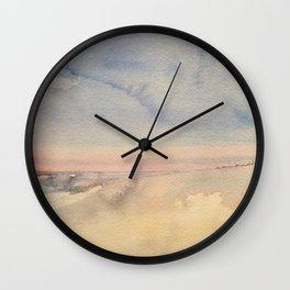 Sunrise in Seaside Wall Clock