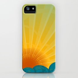 Vintage Ocean Sunset iPhone Case