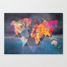 world map 32 sacred Canvas Print