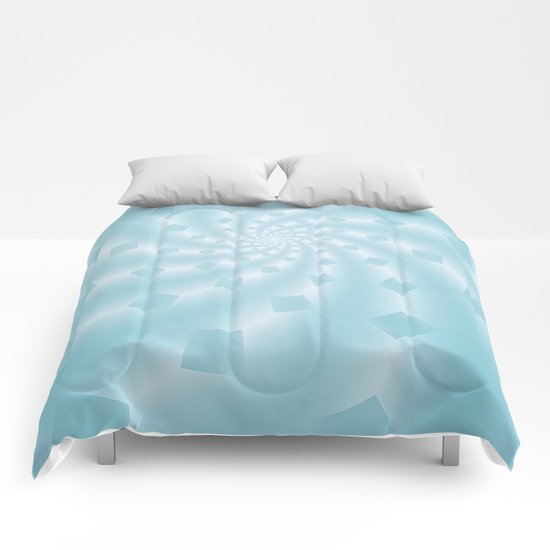 Tess Fractal in Frozen Blue Comforters