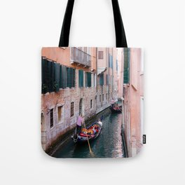 Venice Gondola Rides in Pink Tote Bag