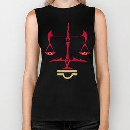 Libra Zodiac, The Scales of Justice | Divine Law Symbol Biker Tank