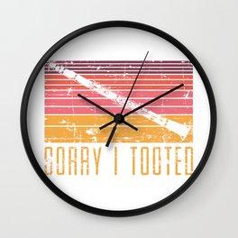 Sorry I Tooted Wall Clock