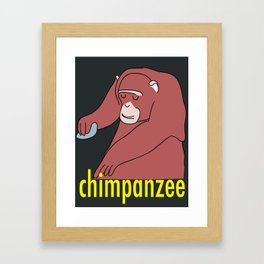 Chimpanzee Framed Art Print