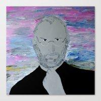 steve jobs Canvas Prints featuring Steve Jobs by Felix Zekveld