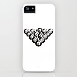 Billiard Pool Balls 8 Ball Gift iPhone Case