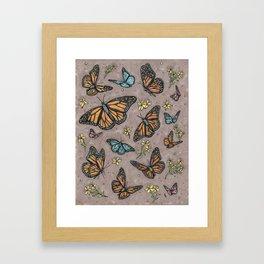 monarch butterflies. Framed Art Print