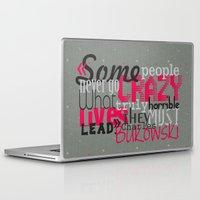 bukowski Laptop & iPad Skins featuring Bukowski by Vickn