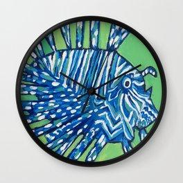 Lion Fish 2, a pretty predator & invasive species Wall Clock