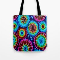 tie dye Tote Bags featuring Tie Dye by gypsykissphotography