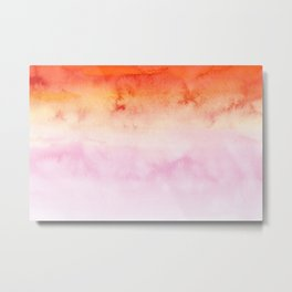Sky Watercolor Texture Abstract 479 Metal Print
