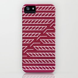 Magenta Line Art iPhone Case