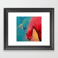 Painted Horse Framed Art Print
