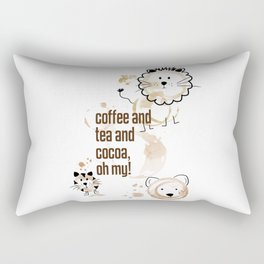 Coffee and Tea and Cocoa, Oh My! Rectangular Pillow