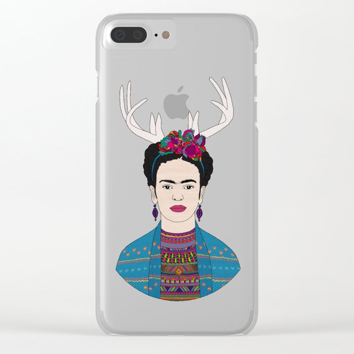 DEER FRIDA Clear iPhone Case