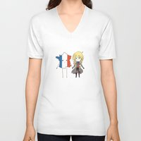 enjolras V-neck T-shirts featuring otp by The Eggplant Market