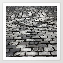 Cobbled Art Print