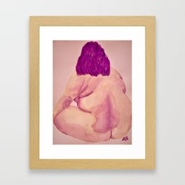 Becoming myself Framed Art Print