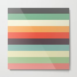 Topielec - Classic Striped Design Metal Print
