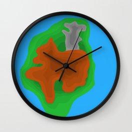 mouse riding a bear Wall Clock