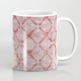Faux Velvet Dusty Pink Lattice Pattern Coffee Mug