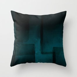 Dark Sky Abstract Watercolor Painting  Throw Pillow