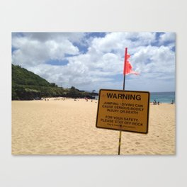 Waimea Bay, Hawaii Canvas Print