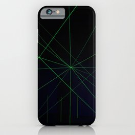 Green laser lines iPhone Case