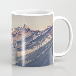 Fitz Roy and Poincenot Andes Mountains - Patagonia - Argentina Coffee Mug
