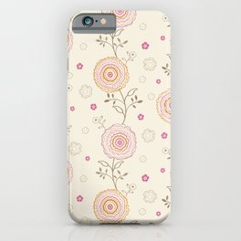 Folky Flowers iPhone Case