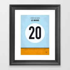 No038 My Le Mans minimal movie poster Framed Art Print