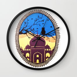 Indian cat view Wall Clock