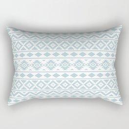 Aztec Essence Ptn III Duck Egg Blue on White Rectangular Pillow