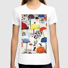 Mein Ein, mein Alles - Mushrooms Abstract Botanical Art - cute animal print - Leopard Muster T-shirt