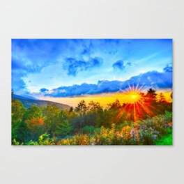 autumn morning in the smoky mountains Canvas Print