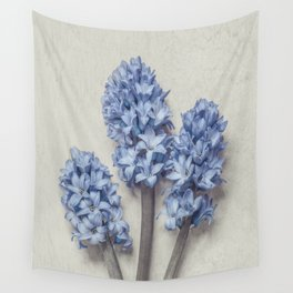 Light Blue Hyacinths Wall Tapestry