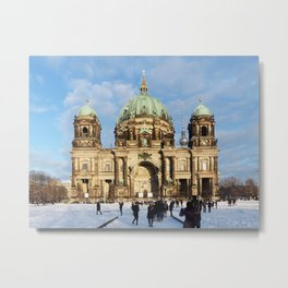 Snowy Berlin Cathedral Metal Print