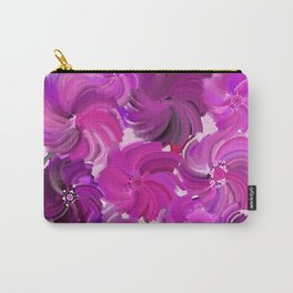Fancy Flowers in Shades of Pink and Lilac Carry-All Pouch