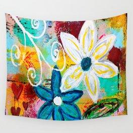 Loving Flower Garden Wall Tapestry