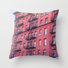 New York Building Fire Escapes Throw Pillow