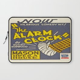 Vintage poster - The Alarm Clock Laptop Sleeve